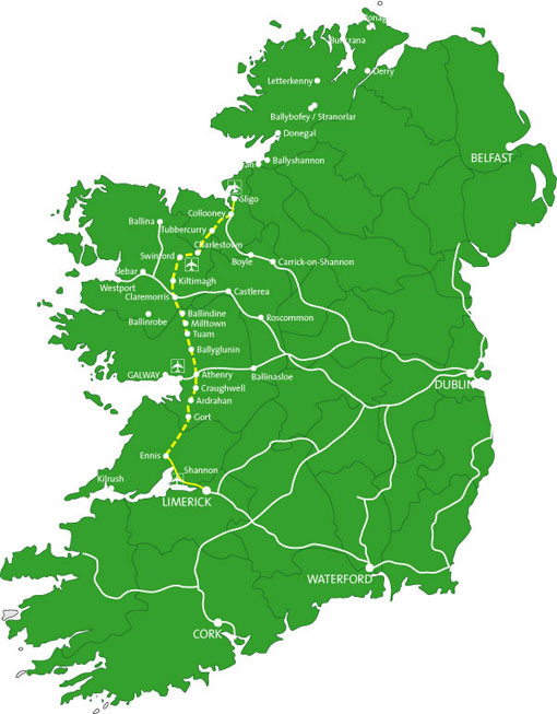 Youtube Map Of Ireland.West On Track Maps